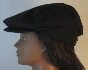 Ivy Flat Cap in Black- left