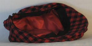 Ivy Flat Cap in Black Red Check Flannel - bottom