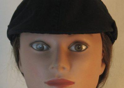 Duckbill Flat Cap in Black - front