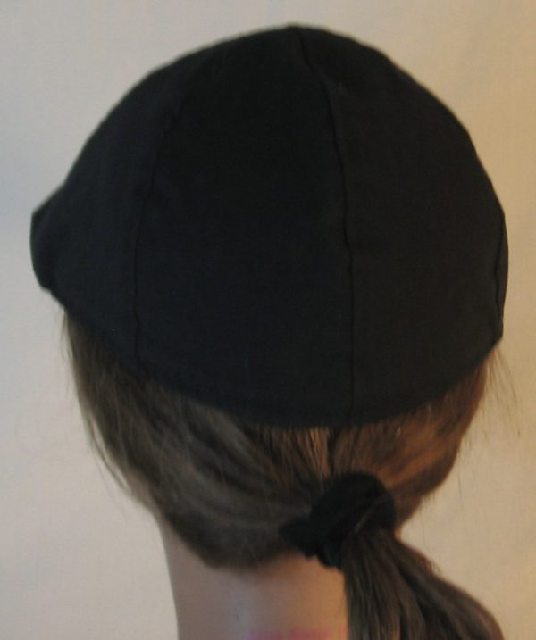 Duckbill Flat Cap in Black - back