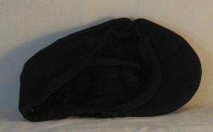 Duckbill Flat Cap in Black - inside