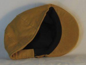 Duckbill Flat Cap in Yellow Mustard Corduroy - inside