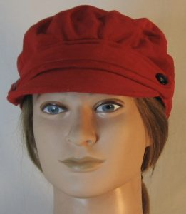 Fisherman Cap in Red Corduroy - front