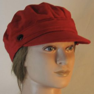 Fisherman Cap in Red Corduroy - front right
