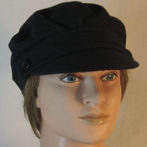Fisherman Cap in Black - front