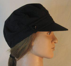 Fisherman Cap in Black - right