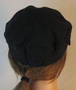 Fisherman Cap in Black - back