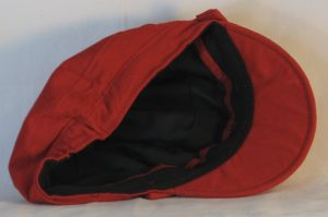 Fisherman Cap in Red Corduroy - inside