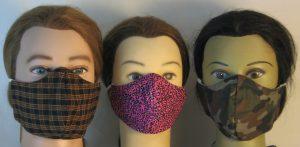 Face Masks 3 Plaid Leopard Camo