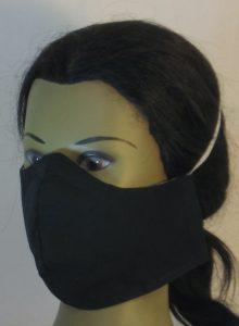 Face Mask in Black - left