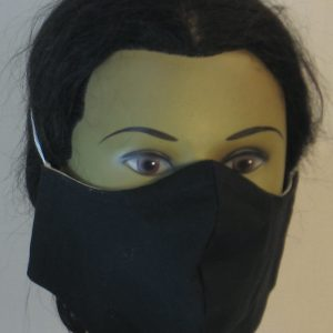 Face Mask in Black - front