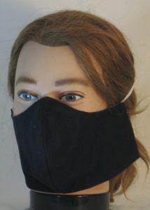 Face Mask in Black - left front