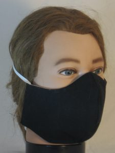 Face Mask in Black - right front