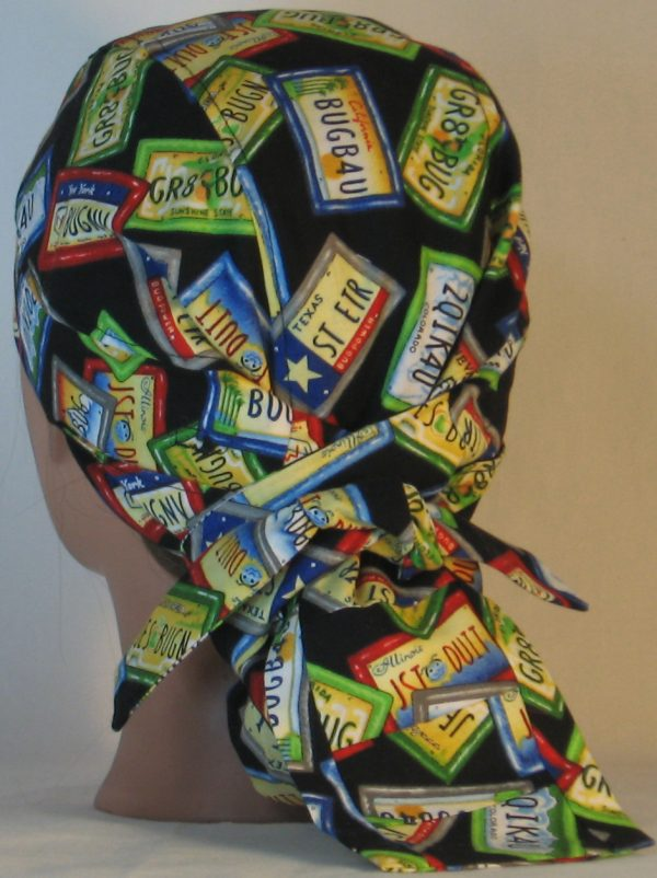 Hair Bag Do Rag in License Plates JST DUIT - back