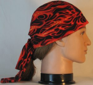Do Rag-Red Orange Flames on Black-right
