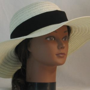 Floppy Hat Band in Black - front right