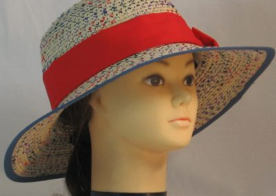 Floppy Hat Band in Red - front right