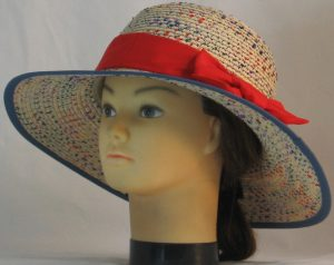 Floppy Hat Band in Red - front left