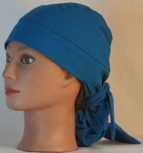 Hair Bag Do Rag in Oasis Blue - left