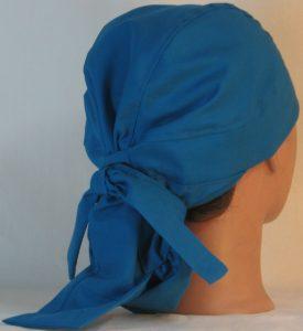 Hair Bag Do Rag in Oasis Blue - back