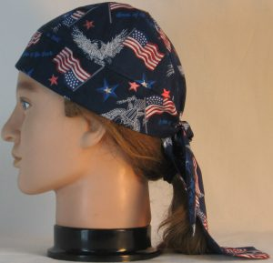 Do Rag in White Eagle Flag Home of the Brave - left