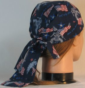 Do Rag in White Eagle Flag Home of the Brave - back right