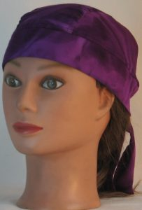Do Rag in Purple on Purple Dyed Rayon - front left