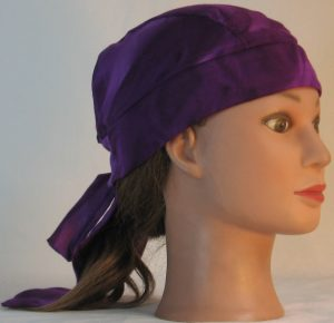 Do Rag in Purple on Purple Dyed Rayon - right