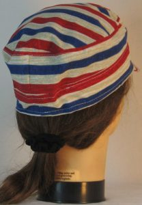 Military Patrol in Tan White Red Blue Stripe - back right