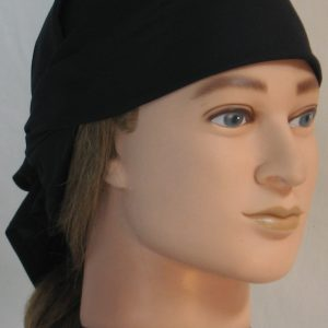 Head Wrap in Black - front right