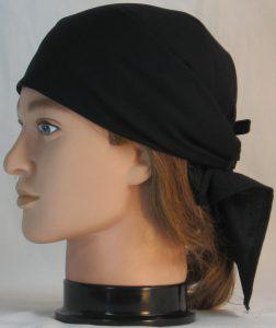 Head Wrap in Black - left