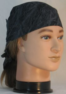 Hair Wrap Black Branches on Gray - front right
