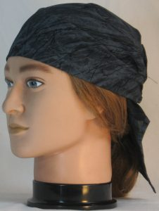 Hair Wrap Black Branches on Gray - front left