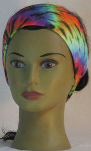 Headband in Rainbow 60s Tie Dye Swirl Knit - front