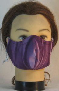 Face Mask in Purple Lavender Streaks - front