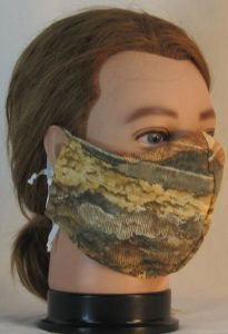Face Mask in Landscape Mountain Trees in Tan - front right