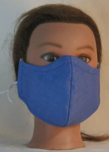 Face Mask in French Blue - front