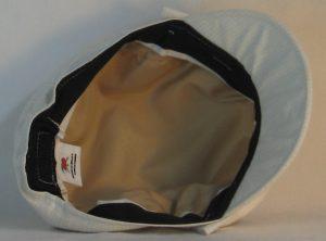 Fisherman Cap in Light Tan Cream Window Pane Check - bottom