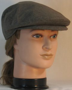 Ivy Flat Cap in Brown Suiting -front right