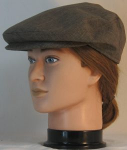 Ivy Flat Cap in Brown Suiting - left