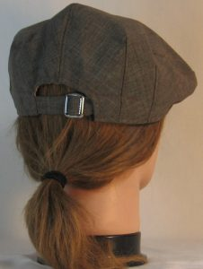 Ivy Flat Cap in Brown Suiting - back