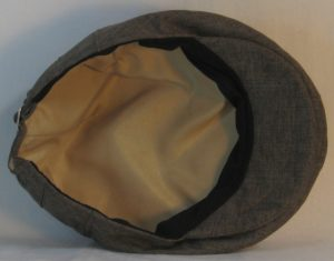 Ivy Flat Cap in Brown Suiting - bottom