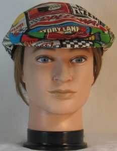 Ivy Flat Cap in Speedway Racing Sayings Black White Checkered Flag - front