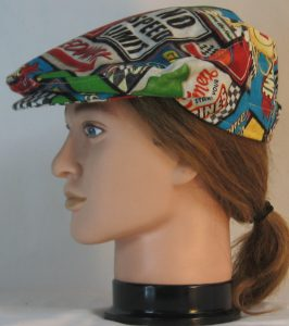 Ivy Flat Cap in Speedway Racing Sayings Black White Checkered Flag - left