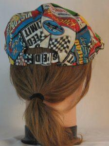 Ivy Flat Cap in Speedway Racing Sayings Black White Checkered Flag - back