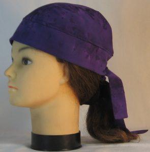 Do Rag in Purple Purple Dyed - left