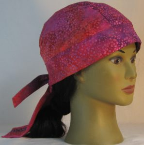 Do Rag in Purple Pink Orange Small Flower Batik - right