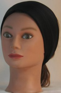 Headband in Black Moisture Management - front