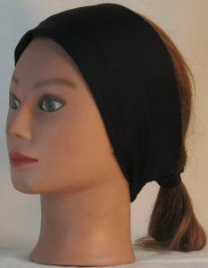 Headband in Black Moisture Management - left