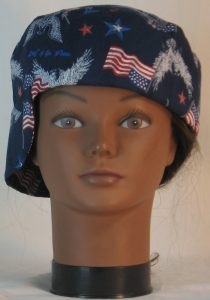 Welding Cap in White Eagle Flag Home of the Brave - front